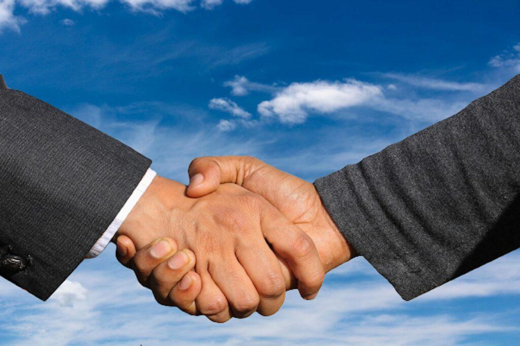 handshake, business, partner
